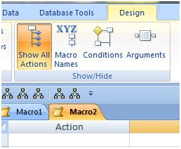 Show All Macro Actions